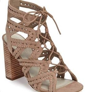 1.State Nude Lace-up Heels